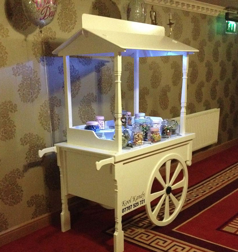 wedding candy cart hire