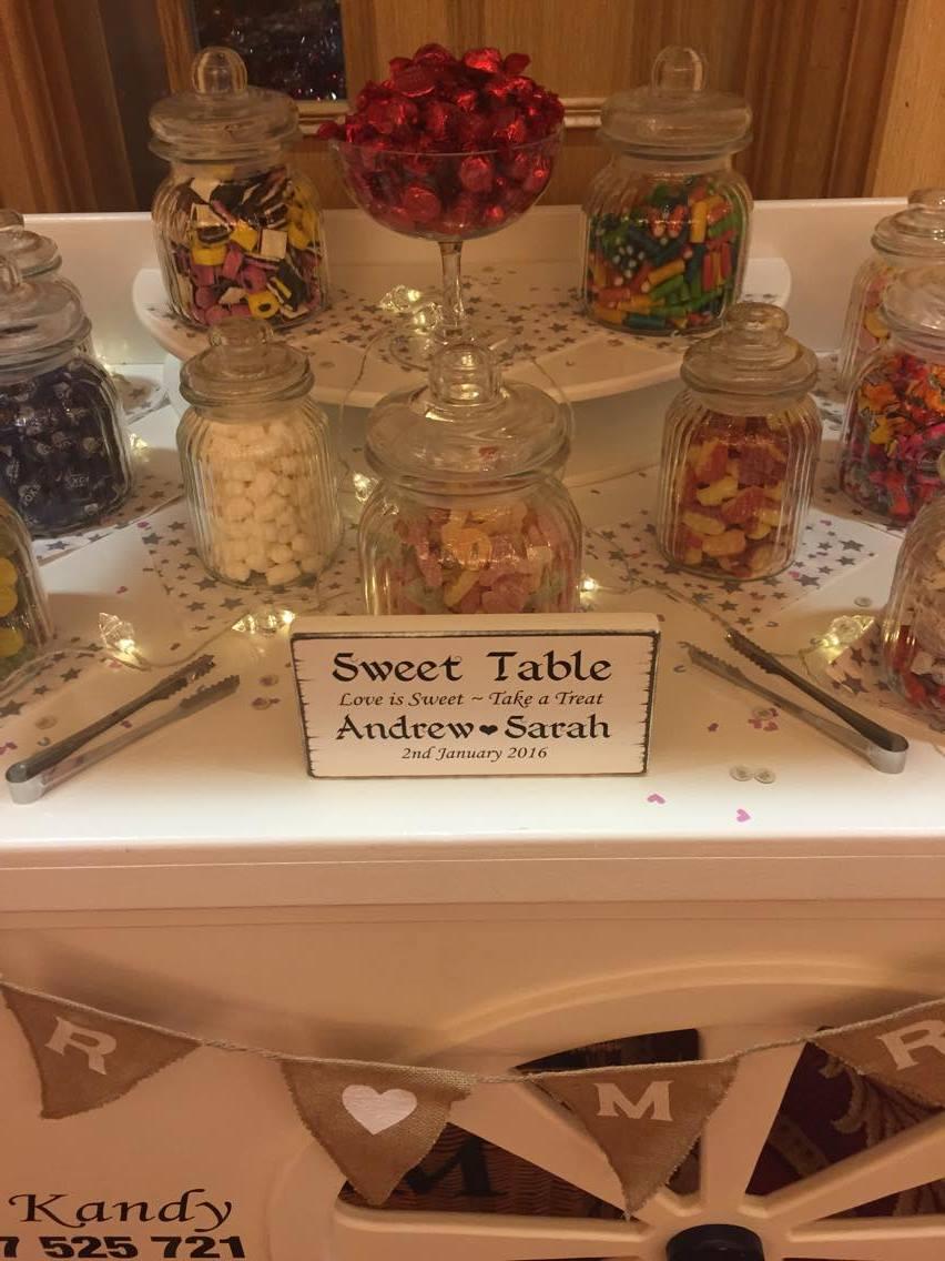 Wedding Sweet Cart Hire